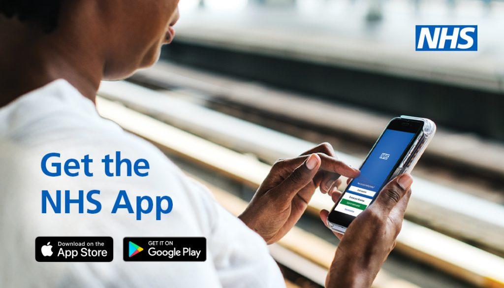 Image promoting NHS app
